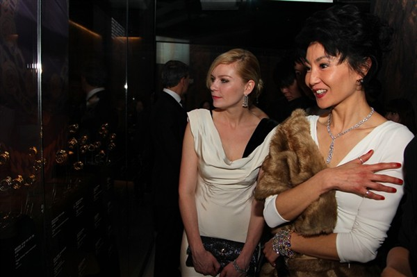 Maggie Cheung and Kirsten Dunst